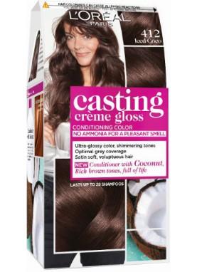 Casting Creme Gloss صبغة شعر كاستينج بني كاكاو بارد 412