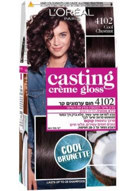 Casting Creme Gloss صبغة شعر كاستينج كستنائي بارد 4102