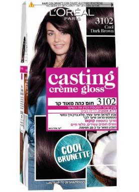 Casting Creme Gloss صبغة شعر كاستينج بني بارد غامق 3102