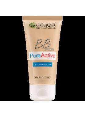 جارنير بيور اكتيف بي بي لون وسط 657Garnier PureActive BB Cream Light
