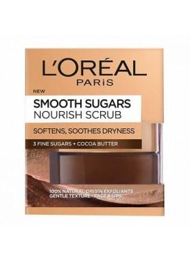 لوريال قناع السكر الناعم للوجه والشفايف بخلاصة الكاكو 50مل L'Oréal Smooth Sugar Nourish Cocoa 324