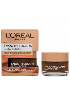 لوريال قناع السكر الناعم للوجه والشفايف بخلاصة العنب 50مل L'Oréal Paris Smooth  Sugar Glow 928