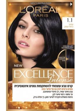 Loreal Excellence crème Intense صبغة اكسيلنس انتنيس للشعر رقم 1.1 (أسود مزرق)