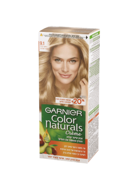 garnier color naturals 9.1 صبغة شعر جارنير تيوب (أشقر رمادي فاتح جداً)