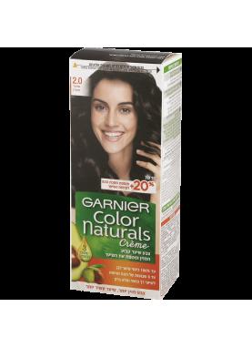 Garnier color naturals صبغة شعر جارنير تيوب 2 (أسود لامع)