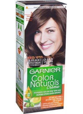 Garnier color naturals 5 صبغة شعر جارنير تيوب (بني طبيعي)