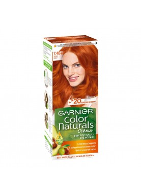 garnier color naturals 7.40  صبغة شعر جارنير تيوب (ذهبي نحاسي)