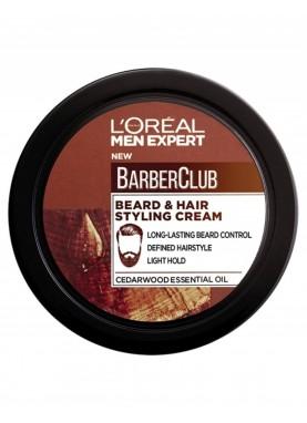 لوريال كريم مصفف للحية والشعر 75مل L'Oreal Barber Club Beard & Hair Styling 75ml 691