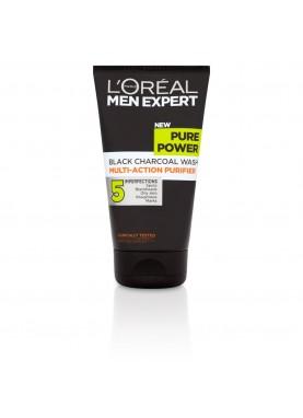 لوريال جل فحم مقشر للخلايا الميتة 100ملL'Oréal Men Expert Pure Power Daily Charcoal Wash 997