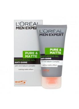 لوريال جل مرطب لازالة اللمعان 50ملL'Oreal Men Pure And Matte Anti-Shine Gel Moisturiser, 870